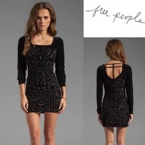 Free People Boogie Night Crushed Velvet Mini Dress